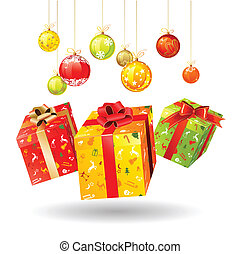 Christmas gifts - Three jumping bright Christmas gifts