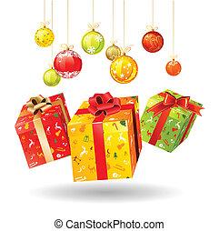 Christmas gifts - Three jumping bright Christmas gifts