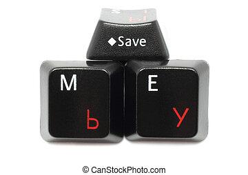 Three keyboard keys