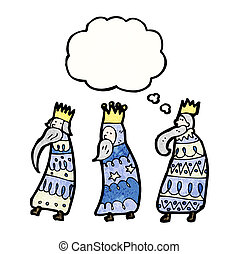 three kings cartoon
