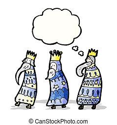 three kings cartoon