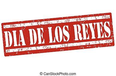 Three Kings Day (in spanish language) stamp