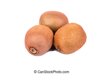 Three kiwi fruit
