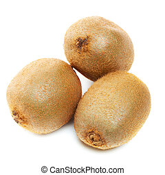 three Kiwi fruits