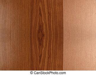 Three laminated wood samples - Laminated wood samples in...