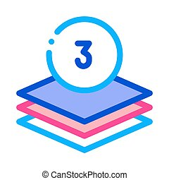 Three Layers Icon Vector Outline Illustration - Three Layers...
