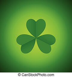 Simple graphic of three leaved shamrock, symbol for Saint Patrick