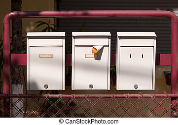 Three letterboxes