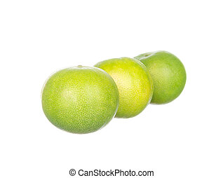 Three limes isolated on white