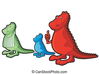 three little dragons