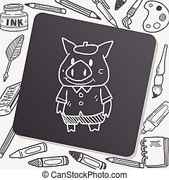 three little pigs doodle