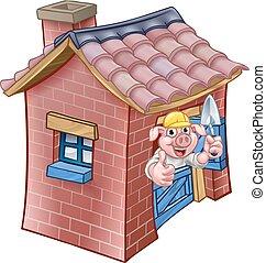 Three Little Pigs Fairy Tale Brick House
