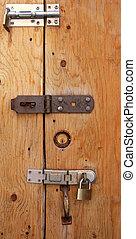 Three Locks - Three locks - two padlocks and one deadbolt -...