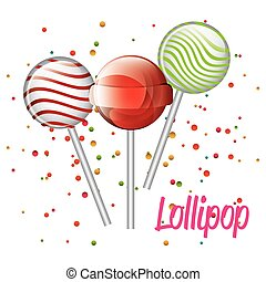 three lollipop graphic