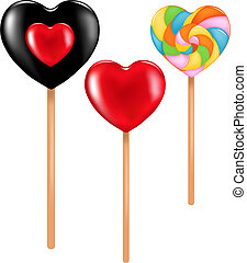 Three lollipops