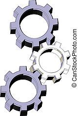 Three machine pieces