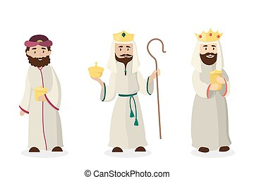 Three magi kings. Jesus Christ birthday andistmas eve.