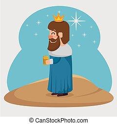 three magic kings gaspar cartoon