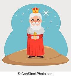 three magic kings melchor cartoon