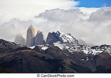 Three magnificent cliffs Torres del Paine