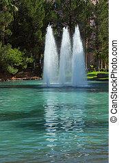 Three magnificent fountain
