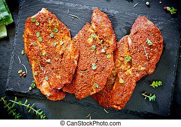Three Marinated Pork Chops
