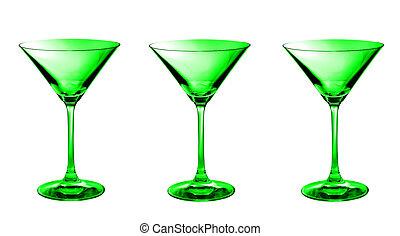Three martini in a row