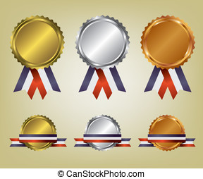 Three medals illustration