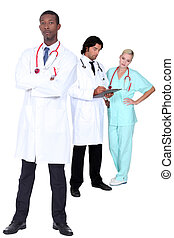 Three medical workers