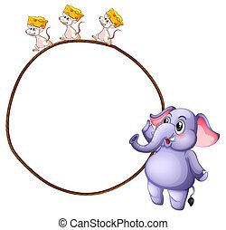 Three mice and an elephant