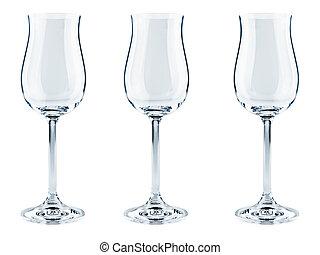 goblets - three modern goblets over the white background