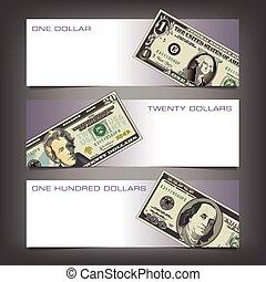 Three Money Banners