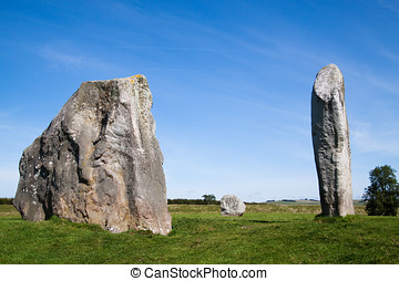 Three Monoliths from Avebury Stone Circle - Three of the...