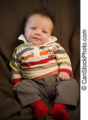 Three Month Old Baby - A portrait of a three month old baby...