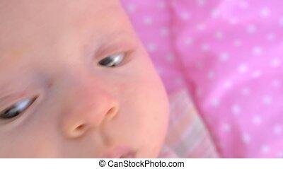 Three months baby girl - Close-up shot of three months baby...