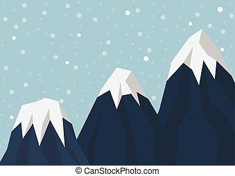 Three mountain peak