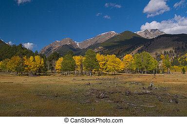 Three Mountains in Autumn
