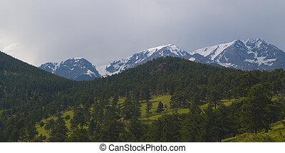 Three Mountains in Rain