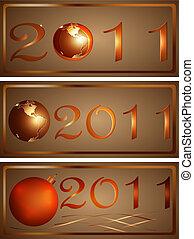 Three New Year\'s icons