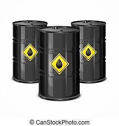 Three Oil Barels