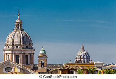 Church Domes Over Roman Roofs