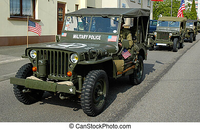 three old MP Jeep - 3 olds Jeep during a french...