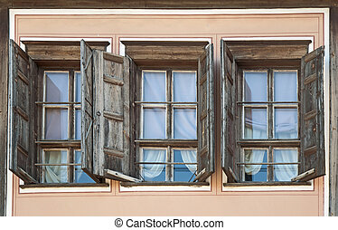 Three old windows