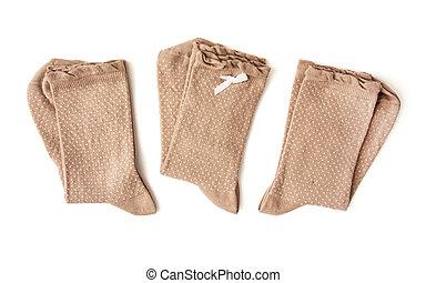 Three pairs of socks