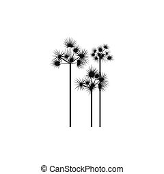Three palm trees icon, simple style