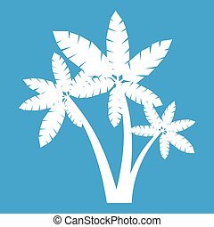 Three palm trees icon white