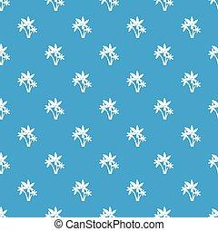 Three palm trees pattern seamless blue
