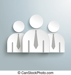 Three Paper Humans PiAd
