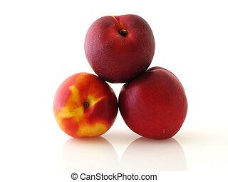 Three peaches
