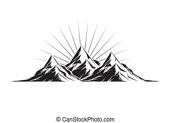 Three Peaks - Illustration of three mountain peaks as a ...